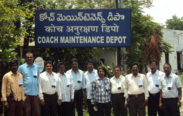 Protest day observed by C&W Engineers of Coaching Depot Guntoor Division SCRly Guided by Er.Ravindra and Er.Seshagiri
