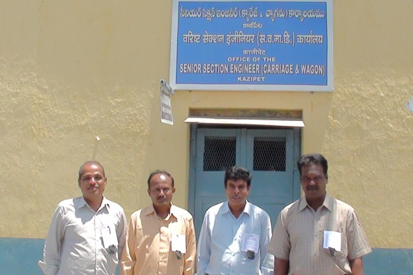 KAZIPET C&W Engineers observed protest day on 03-07-12 organized by Er.Samba Siva Rao