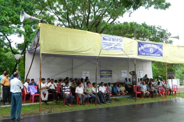 IRTSA Mass Fast and Demonstration on 27th July, 2012 at CLW