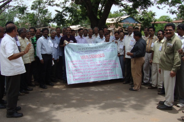 IRTSA Mass Fast and Demonstration on 27th July, 2012 at GuntaPally