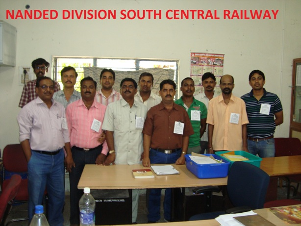 Nanded Maharastra SCRlySr.DME Office Engineers obseving Protest day on 2nd July organized by Er.Giridhar Arbard