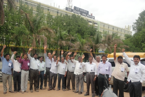 Protest Day Observed by IRTSA SCR Nilayam Unit