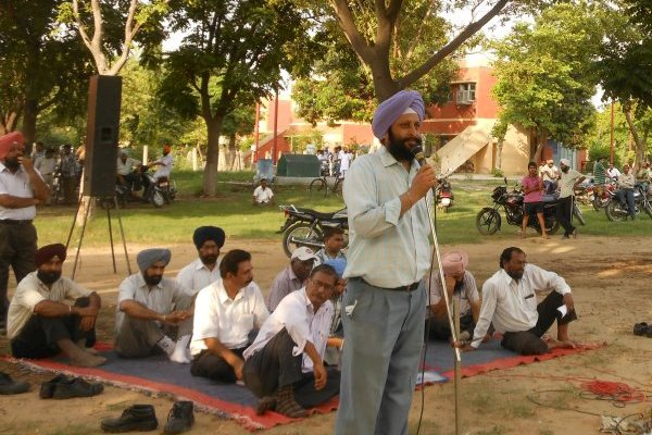 IRTSA Mass Fast and Demonstration on 27th July, 2012 at RCF, Kapurthala